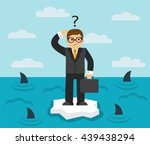 businessman with briefcase... | Shutterstock .eps vector #439438294