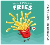 vintage fries poster design... | Shutterstock .eps vector #439441750