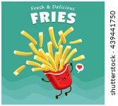 vintage fries poster design... | Shutterstock .eps vector #439441750