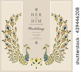 wedding invitation or card with ... | Shutterstock .eps vector #439446208