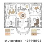 architectural drawing. the... | Shutterstock . vector #439448938