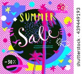 summer sale. hand lettered... | Shutterstock .eps vector #439449193