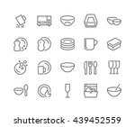 simple set of dish and plates... | Shutterstock .eps vector #439452559