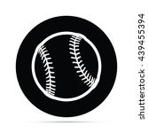 circular baseball icon.  raster ... | Shutterstock . vector #439455394