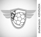 soccer design. football icon.... | Shutterstock .eps vector #439456504