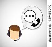 call center design.... | Shutterstock .eps vector #439458040