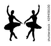 ballerina silhouettes | Shutterstock .eps vector #439458100