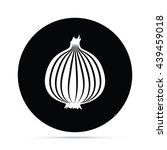 circular onion icon.  raster... | Shutterstock . vector #439459018