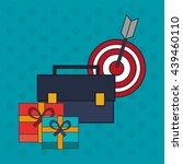 digital marketing design. media ... | Shutterstock .eps vector #439460110