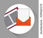 digital marketing design. media ... | Shutterstock .eps vector #439460170