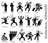 negative personalities... | Shutterstock . vector #439463200