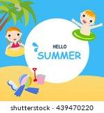 hello summer | Shutterstock .eps vector #439470220