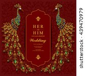 wedding invitation or card with ... | Shutterstock .eps vector #439470979