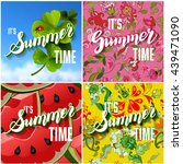 vector set of colorful bright... | Shutterstock .eps vector #439471090