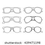 set of six sunglasses  sketch...   Shutterstock .eps vector #439471198