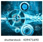 digital data background  blue... | Shutterstock .eps vector #439471690