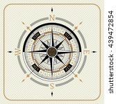 nautical vintage compass 02 on... | Shutterstock .eps vector #439472854