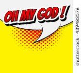 comic speech bubble  cartoon | Shutterstock .eps vector #439483576