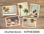summer photo album of... | Shutterstock . vector #439483888
