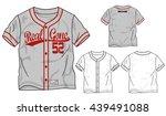 vector baseball elements...   Shutterstock .eps vector #439491088