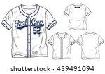 vector baseball elements...   Shutterstock .eps vector #439491094