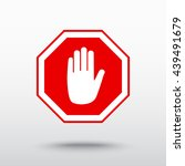 no entry hand sign icon  vector ... | Shutterstock .eps vector #439491679