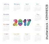 calendar 2017 numbers with...   Shutterstock .eps vector #439498528