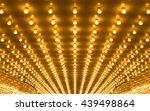 golden bulbs marquee lights