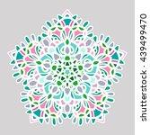 openwork vector mandala. round... | Shutterstock .eps vector #439499470