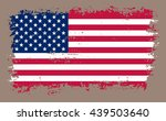 grunge usa flag.old american... | Shutterstock .eps vector #439503640