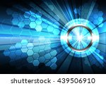 abstract technology blue... | Shutterstock .eps vector #439506910