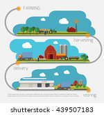 farming agriculture infographic ...   Shutterstock .eps vector #439507183