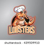 lobster chef design vector... | Shutterstock . vector #439509910