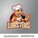 lobster chef design vector... | Shutterstock . vector #439509910