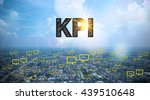 kpi  text on city and sky... | Shutterstock . vector #439510648