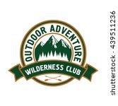 outdoor adventure retro badge... | Shutterstock .eps vector #439511236