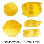 golden texture gouache stains... | Shutterstock . vector #439511746