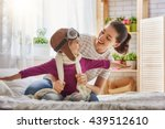 happy family is preparing for a ... | Shutterstock . vector #439512610
