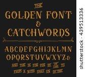 vintage alphabet vector font.... | Shutterstock .eps vector #439513336