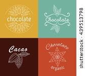collection of cacao and... | Shutterstock .eps vector #439513798