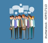 flat vector group people ... | Shutterstock .eps vector #439517113