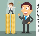 small businessman standing on... | Shutterstock .eps vector #439520644