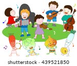 music festival of vegetables... | Shutterstock .eps vector #439521850