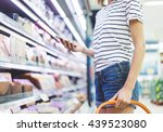 young woman shopping healthy... | Shutterstock . vector #439523080