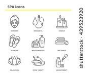 spa and beauty icons set  skin... | Shutterstock .eps vector #439523920