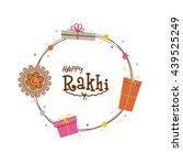 beautiful rakhi and gifts... | Shutterstock .eps vector #439525249