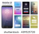 material design ui  ux and gui... | Shutterstock .eps vector #439525720