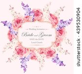 vintage wedding invitation | Shutterstock .eps vector #439530904