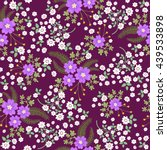 seamless ditsy. floral pattern. ... | Shutterstock .eps vector #439533898
