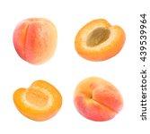 set of juicy orange whole... | Shutterstock . vector #439539964